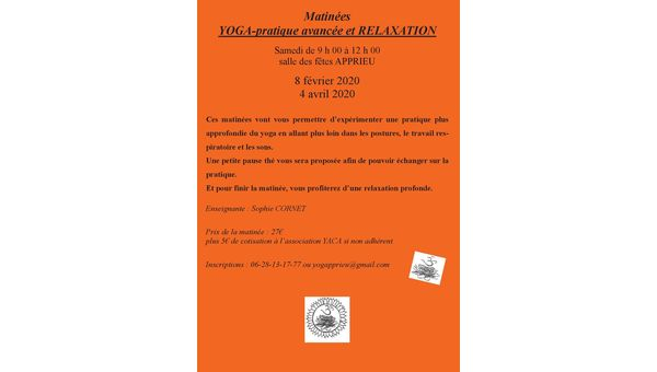 MATINEES YOGA-PRATIQUE +RELAX